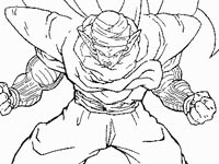 coloriage Piccolo contre Cell