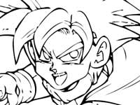 coloriage Son Gohan Punch