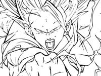 coloriage son goku ssj3